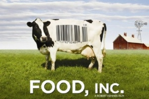 Food Inc. Logo - Cow with Barcode on