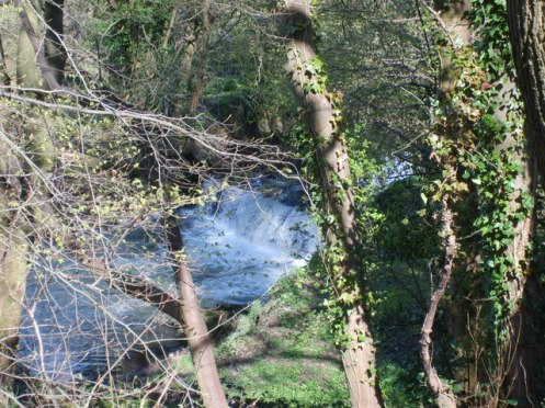 River Stour Waterfall near Wordsley
