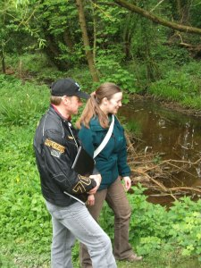 Wayne Haywood with Julia Morris from the Environment Agency